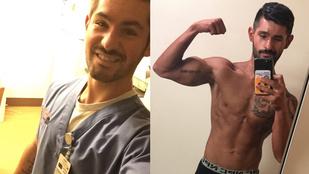 Ennek a két szexi ápolónak a testépítés a hobbija