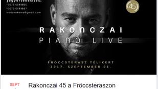 Öt-, tíz- és tizennyolcezer forintért is hallgathat Rakonczai Imrét a Fröccsteraszon