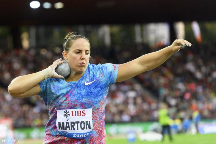 Márton Anita az atlétikai Gyémánt Liga zürichi viadalának női súlylökésében