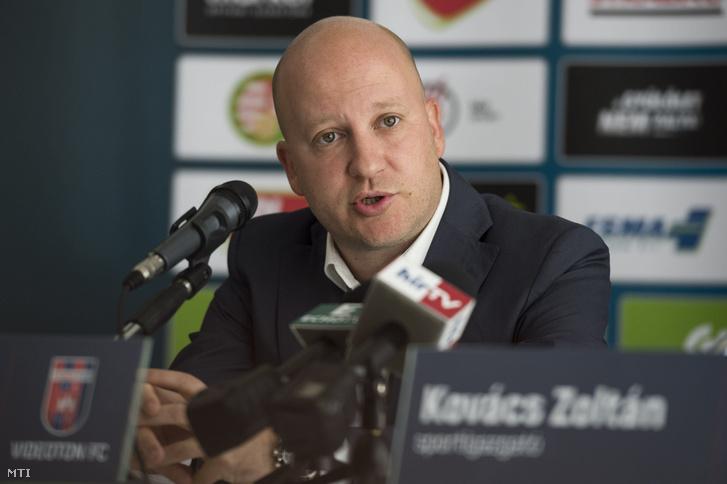Marko Nikolics bemutatkozó sajtótájékoztatóján Székesfehérváron 2017. június 8-án.