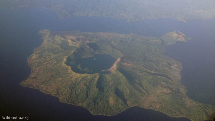 Taal Volcano aerial 2013