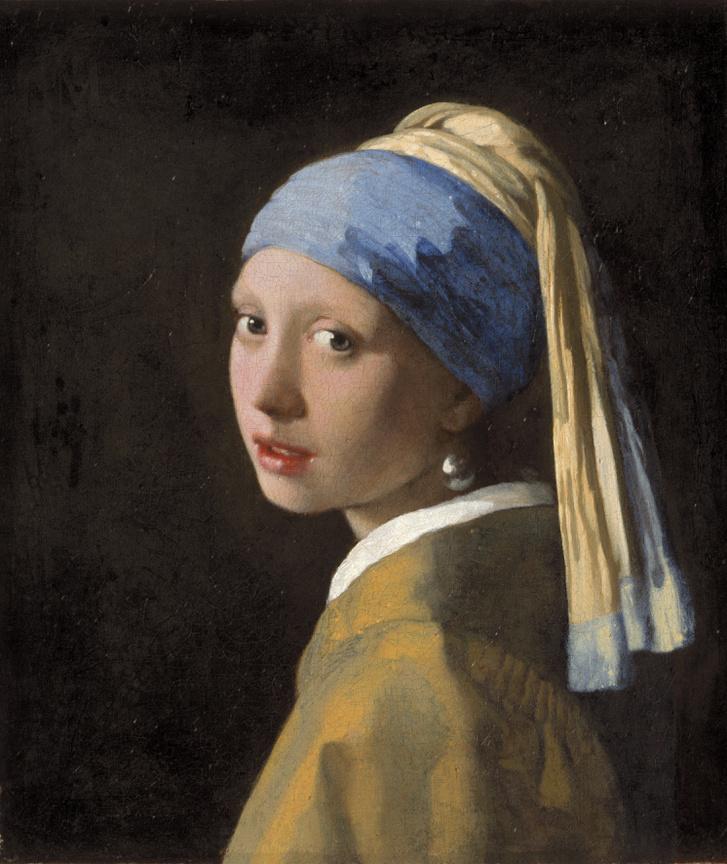 Jan Vermeer: Lány gyöngy fülbevalóval c. 1665 Mauritshuis, Hága
