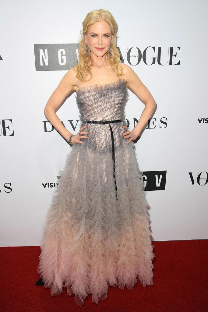Remek választás volt ez az estélyi ruha a Dior őszi kollekciójából.