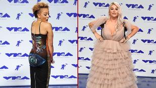 Mel B a szemfenekét mutogatta, Kesha meg eltűnt a koszos tüllben
