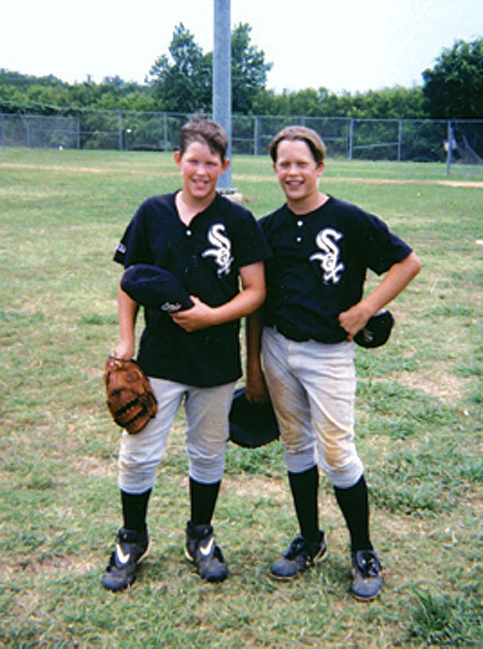 Kershaw (b) és Stafford (j) egy ifi baseballtornán