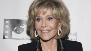 Jane Fonda őrült lazán mutatott be a rá lecsapó paparazzónak