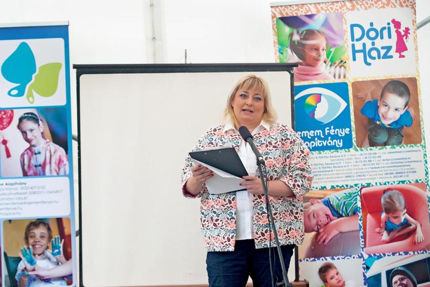 Gyura Barbara, a Szemem fénye Alapítvány vezetője