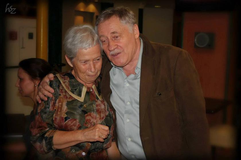 Kolos Réka és Koltai Róbert a Móricz Naplóiból készült előadás után 2013-ban.