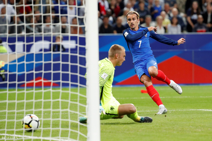 A francia Antoine Griezmann első gólja