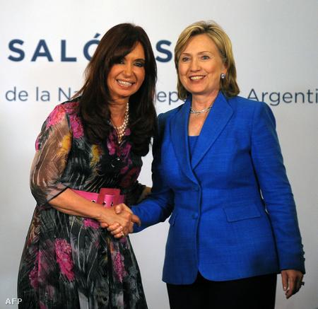 Cristina Kirchner  és Hillary Clinton idén márciusban