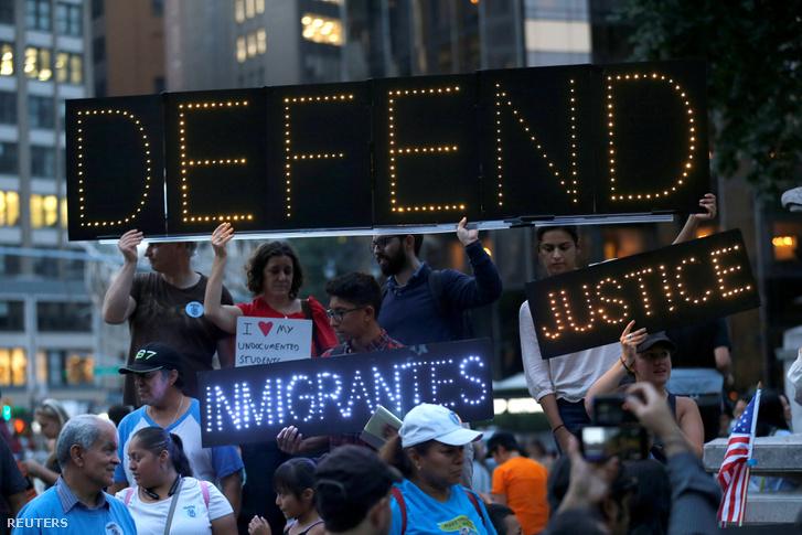 Augusztus 30-ai tüntetés a DACA-program mellett New York-ban