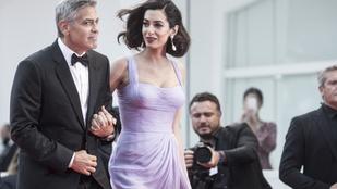 Amal Clooney Velencében igazi filmsztárnak nézett ki