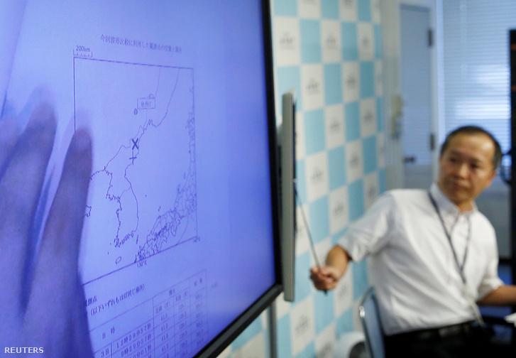 A Japán Meteorológiai Ügynökség szakértője elemzi az Észak-Koreában történt robbantást.