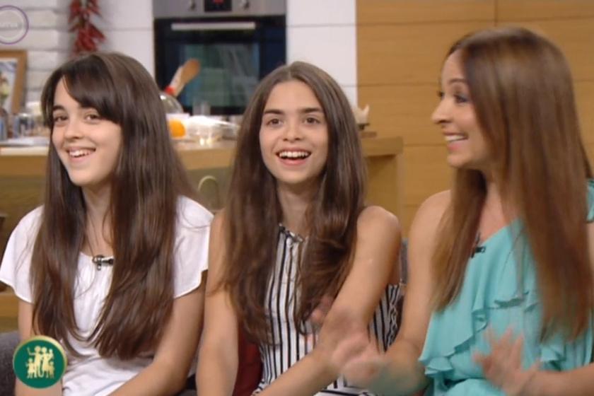 Szekeres Adrien és lányai: Csillag Jázmin és Emília Gréta.