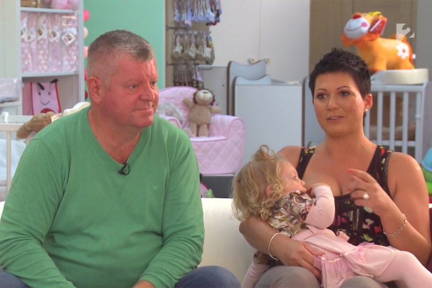 Besenczi Árpád és Nagy Kornélia lányukkal 2016 őszén a Babavilág című műsorban.