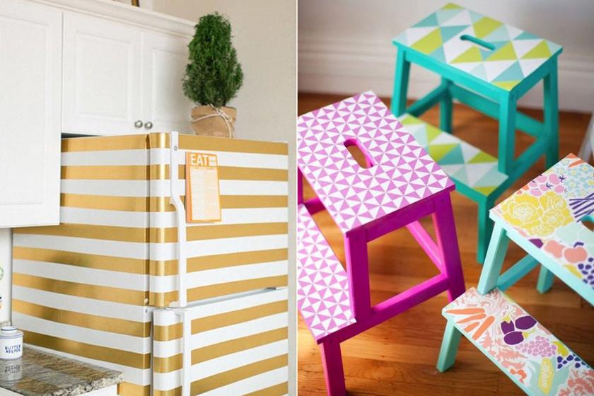 Régi bútorokat, konyhai berendezéseket újíthatsz fel egyszerűen és rendkívül dizájnosan tapétával.