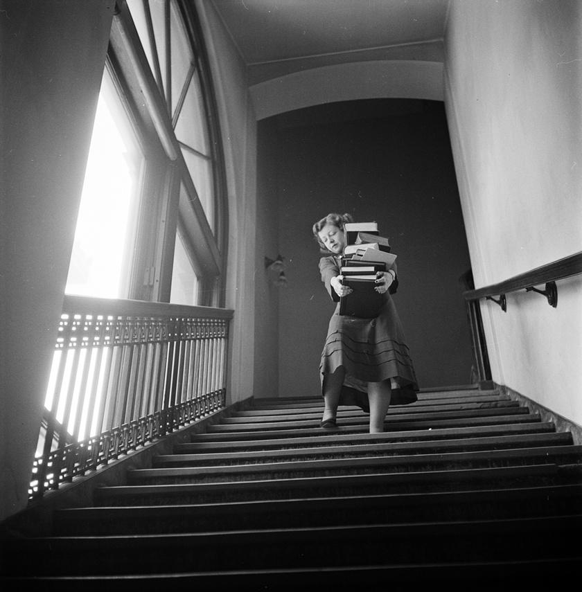 Diáklány a Columbia Egyetemen, 1948-ban.