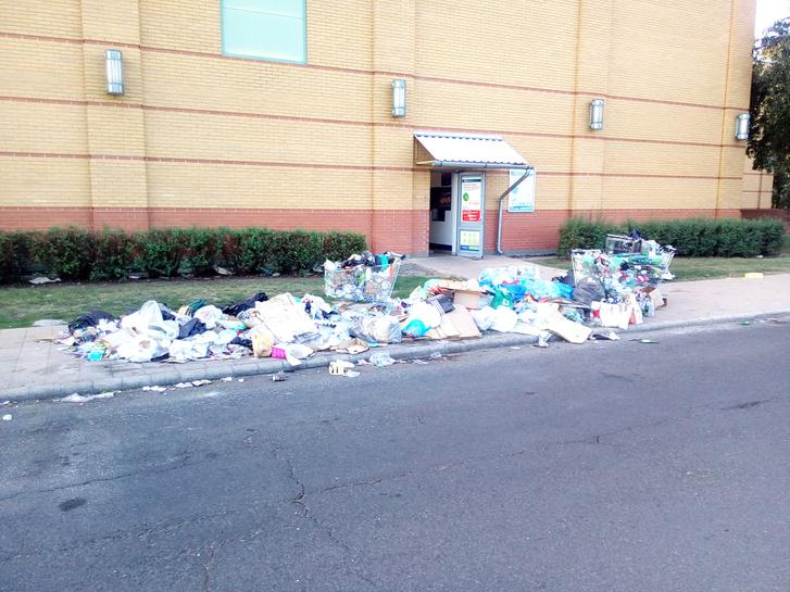 Nemrég itt szelektív hulladékgyűjtők álltak. Fotó: Index