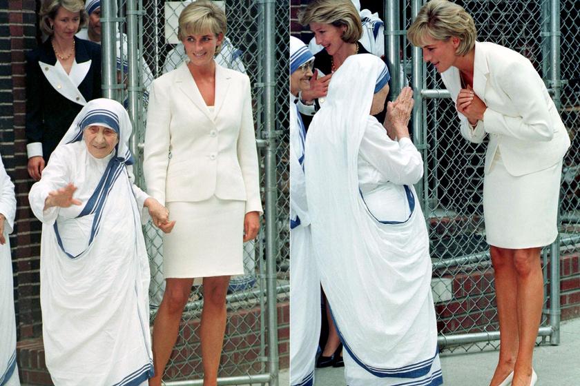 Teréz anya és Diana 1997 júniusában találkoztak, két hónappal a hercegnő és a saját halála előtt. Diana a taposóaknák áldozatainak megsegítésére utazott Bronxba, ahol közösen imádkoztak.