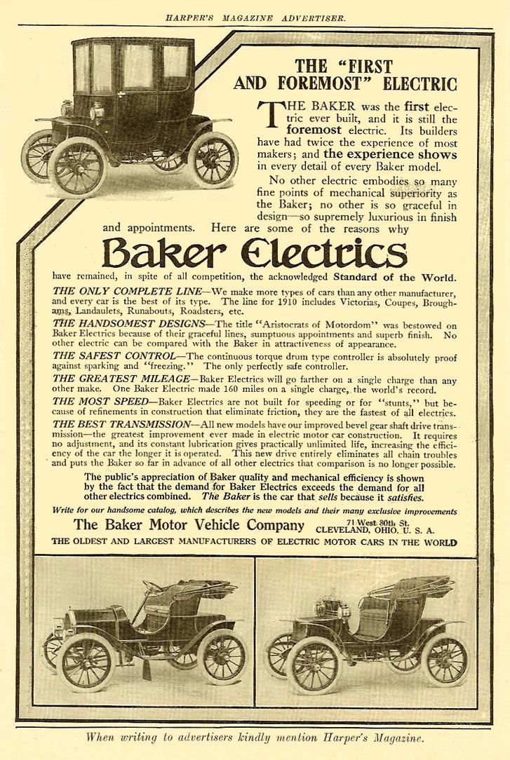 Egy korabeli Bakers Electric magazin hirdetés