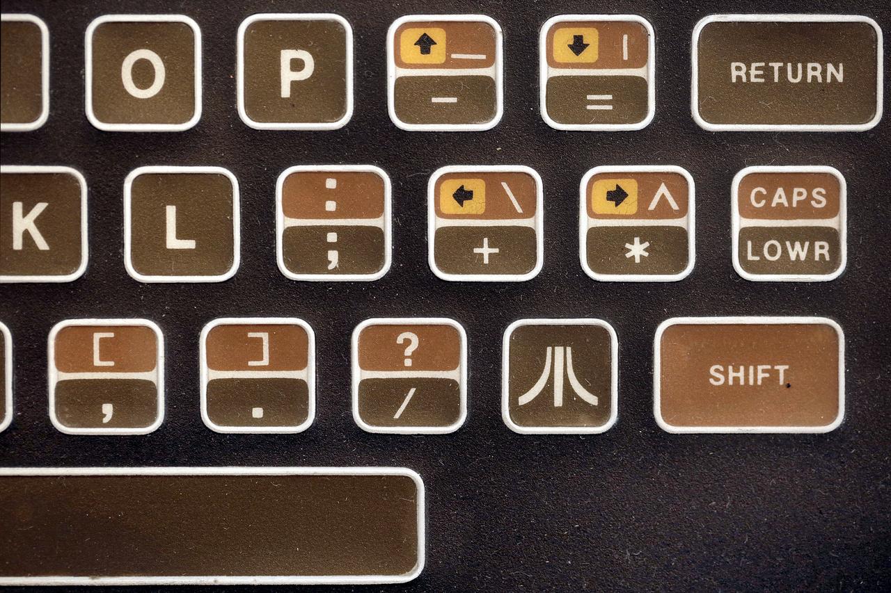 Egy Atari 400 csodálatos billentyűzete 1979-ből.