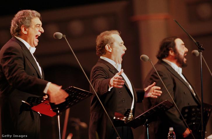 A Három tenor: Plácio Domingo, José Carreras, Luciano Pavarotti