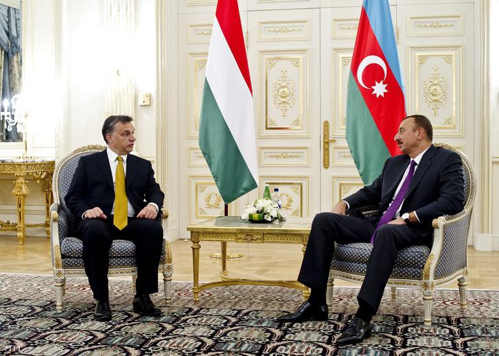 Orbán Viktor és Ilham Alijev