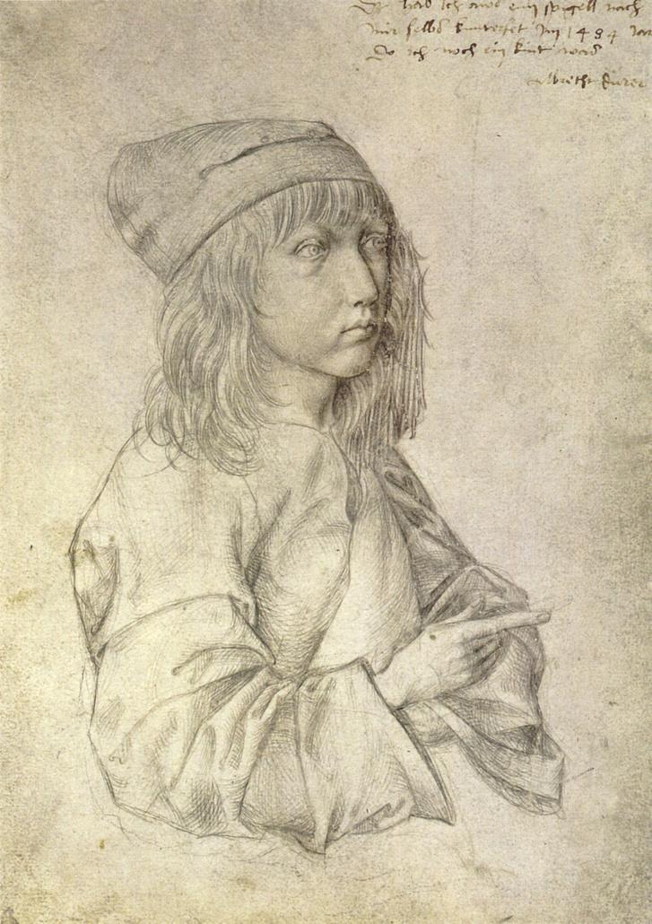 Dürer önarcképe 13 éves korából (1484)