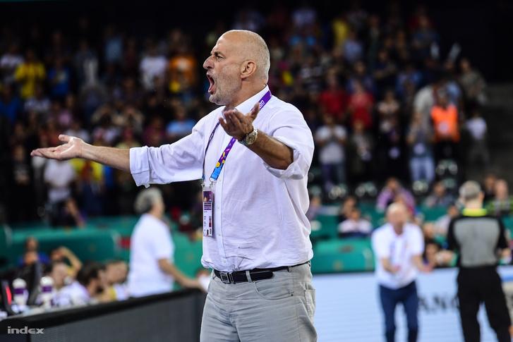 Ivkovics Sztojan, a magyar kosárlabda-válogatott kapitánya a 2017-es Európa-bajnokságon