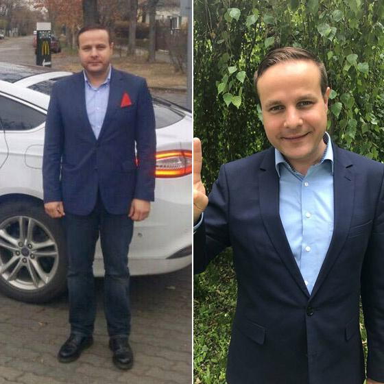Bagi Iván 2016 novemberében és fogyása után