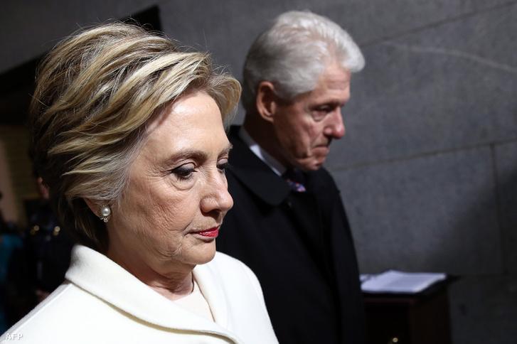 A Clinton házaspár Donald Trump beiktatási ünnepségén