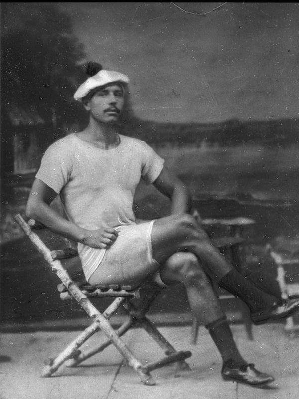 Pekár Gyula fiatalon fürdőtrikóban