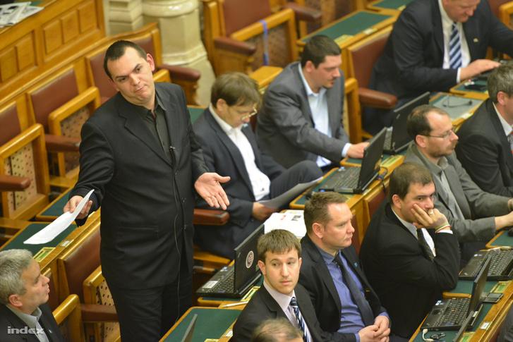 Zagyva György Gyula a Parlamentben 2013 áprilisában