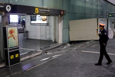 A Benito Juarez nemzetközi Repülőtér padlója is megrongálódott.