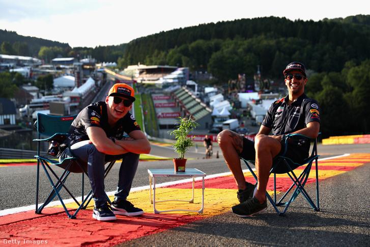Max Verstappen és Daniel Ricciardo