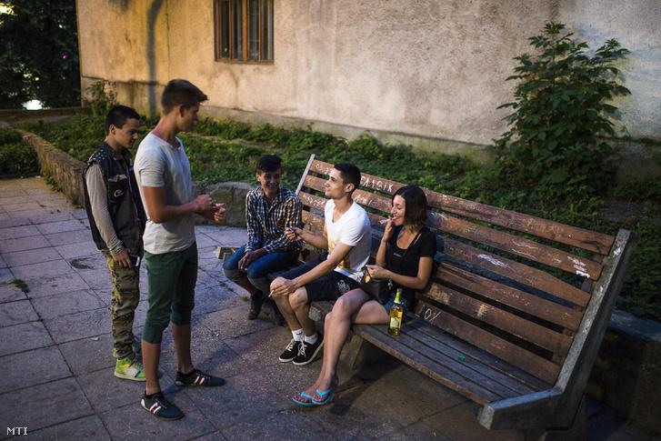 Kárpátaljai magyar fiatalok a Fradi parkban Beregszászon 2015 júniusában