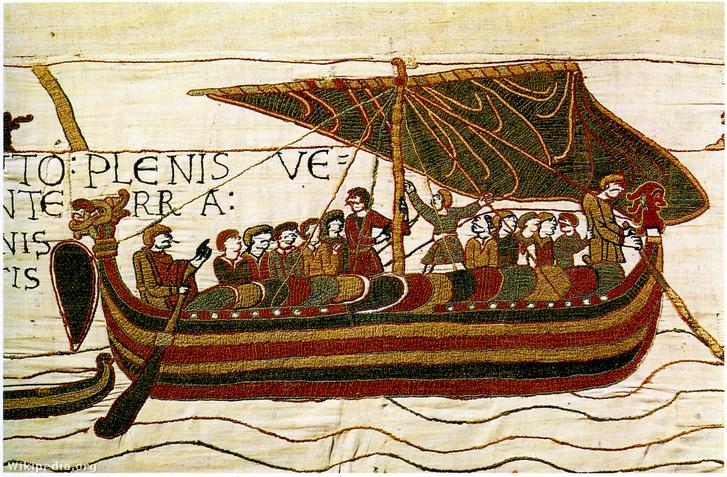 Viking hajó a Bayeux-i kárpiton