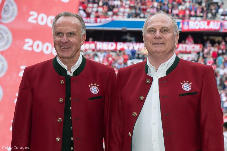 Karl-Heinz Rummenigge és Uli Hoeness