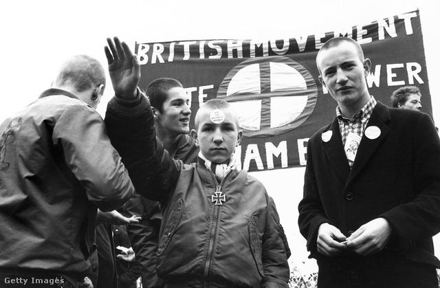 Szélsőjobboldali skinheadek 1980-ban.