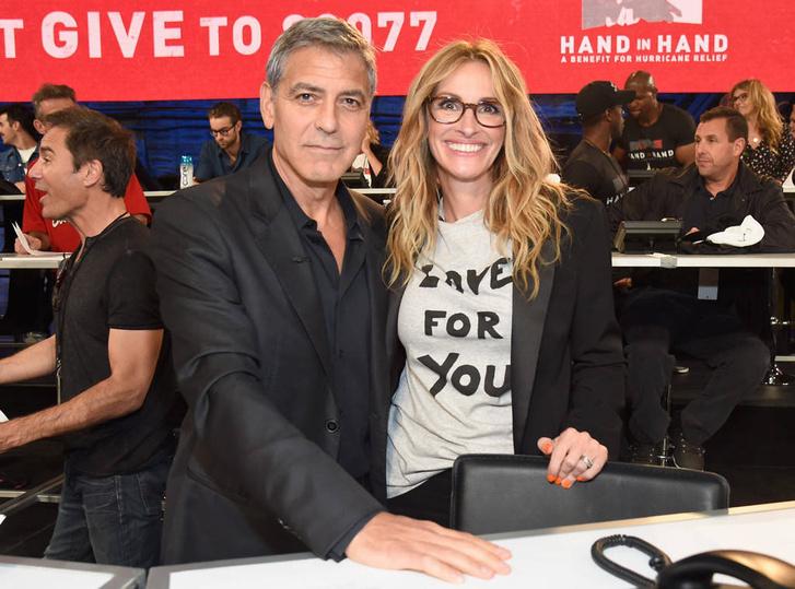 George Clooney és Julia Roberts gyűjt