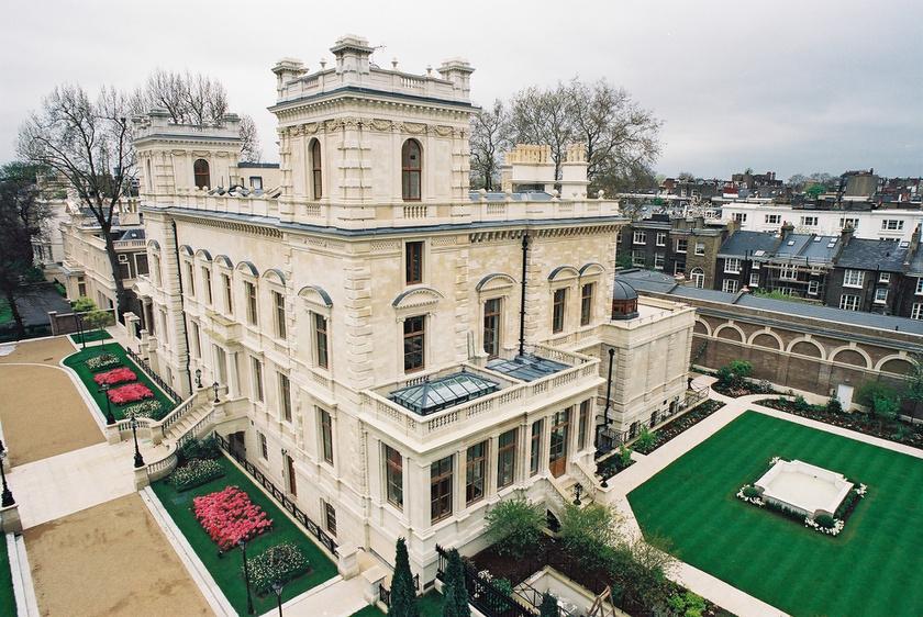 A londoni 18-19 Kensington Palace Gardens az ötödik a legdrágább helyek toplistáján: 222 millió dollárt ér.