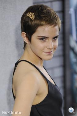 Emma Watson az idei nagy meglepetés: nagyon unhatta már a hosszú hajat, lekapatta az egészet.