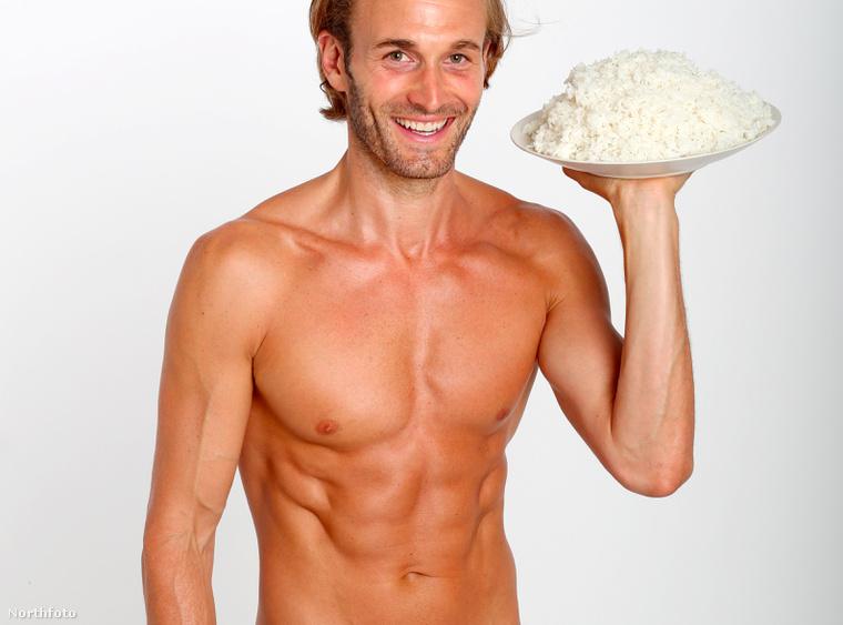 Brad Kroening egy férfimodell, a rizs pedig az az étel, amit naponta hat-hétszer fogyaszt.