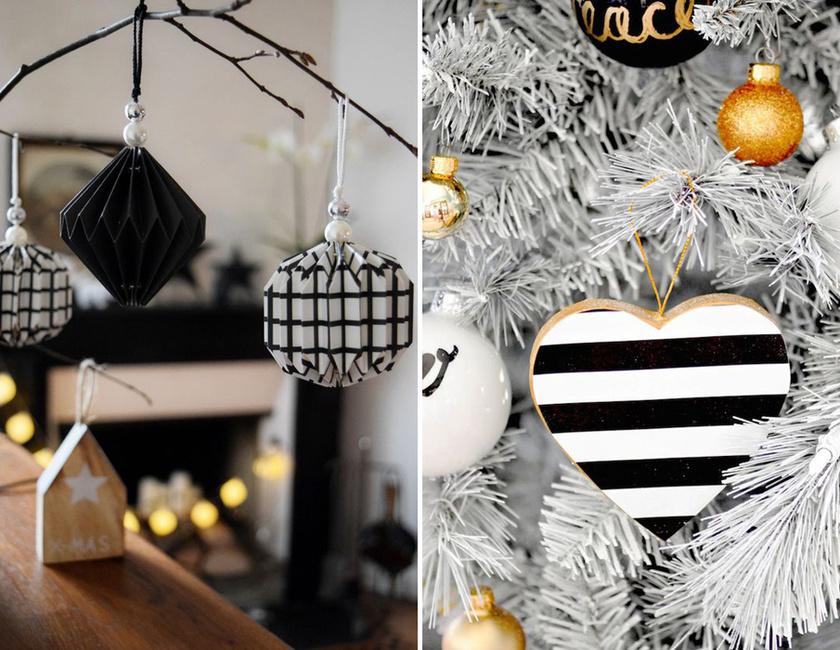 A papír és fa két egyszerű alapanyag, amin viszont remekül mutat a fekete és az arany kombinációja.