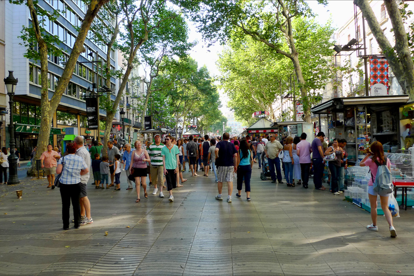 Las Ramblas: itt történt a támadás