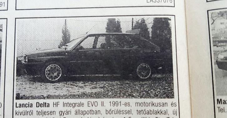 Az Evo-besorolás hazánkban nem ment nagyon. Természetesen ez egy sima Integrale 8v kat. A 16v motorháztető gyárilag került rá. A szárny utólagos. Motorikusan gyári volt tényleg, csak fáradt