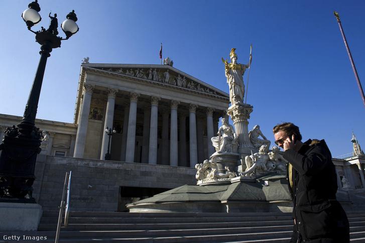 Az osztrák parlament épülete Bécsben