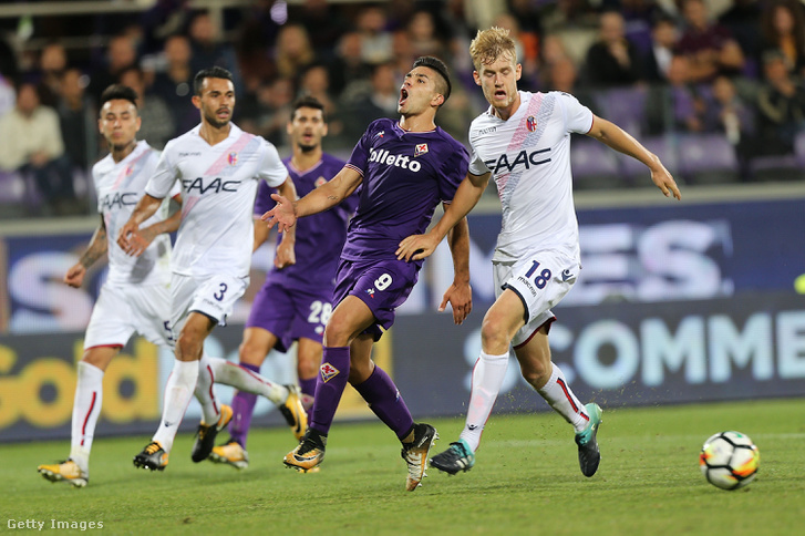 Giovanni Simeone a Fiorentina-Bolognán