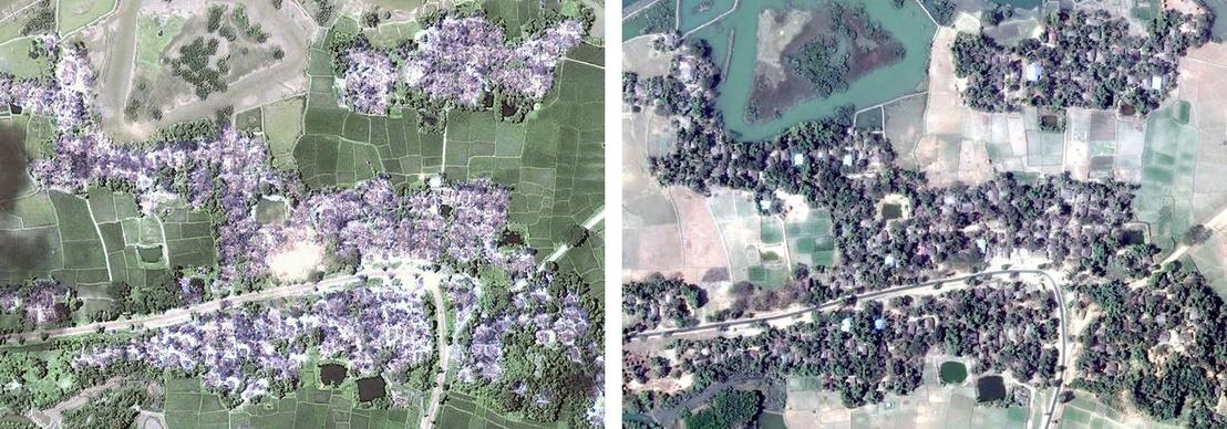 Nwar Yon Taung falu 2017. szeptember 16-án és május 25-én