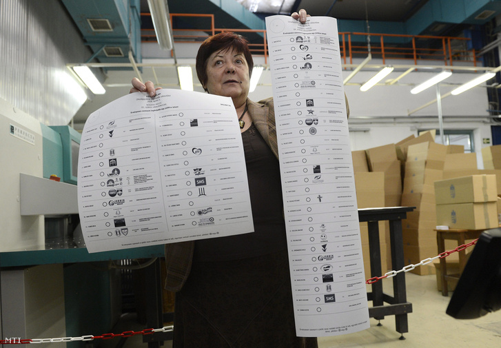 2014-es szavazólapok